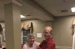 Retirement living reisdents dancing